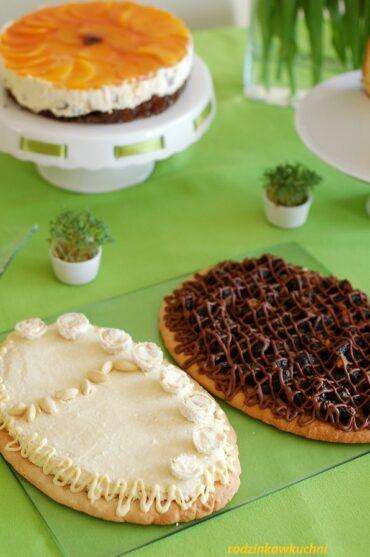 kruche ciasto z kremem kokosowym