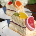 Tort z galaretką i kremem mascarpone