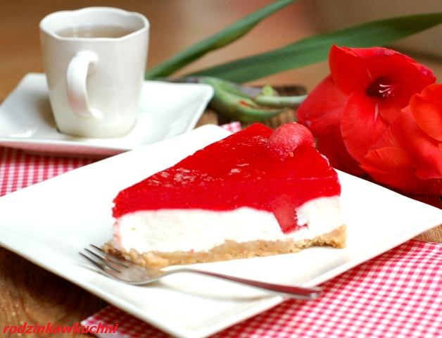 Arbuzowy przysmak_ciasto bez pieczenia_ciasto jogurtowe_ciasto na lato