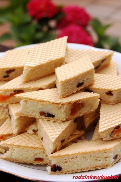 Białe wafle_domowe wafelki_dania dla dzieci_ciasteczka