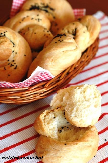 bułki ślimaczki z czarnuszką_pieczywo_dania na piknik_domowe bułki