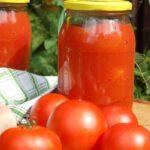Całe pomidory w przecierze na zimę