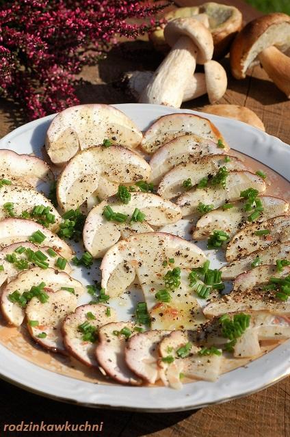 carpaccio z prawdziwków_carpaccio z borowików_sałatka z surowych grzybów
