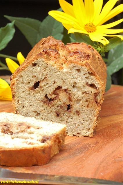 klasyczny chlebek bananowy z czekoladą_domowy chleb_chleb bananowy