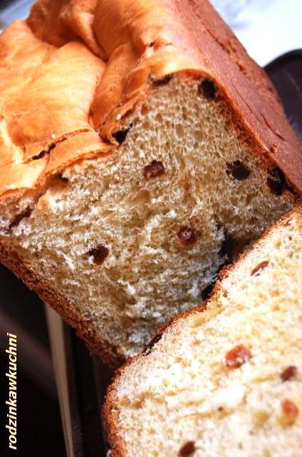 chleb z rodzynkami_chleb słodki_chleb drożdżowy