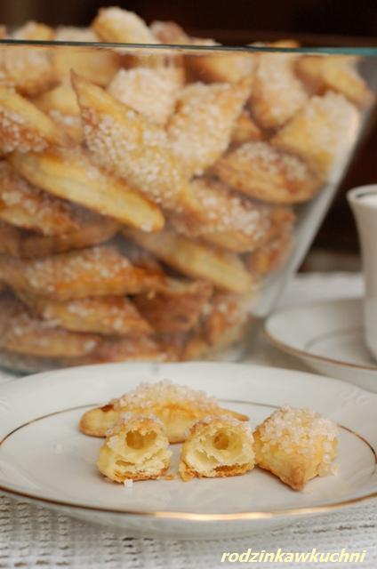 ciastka francuskie Ani_drobne wypieki_ciastka z cukrem_Boże Narodzenie