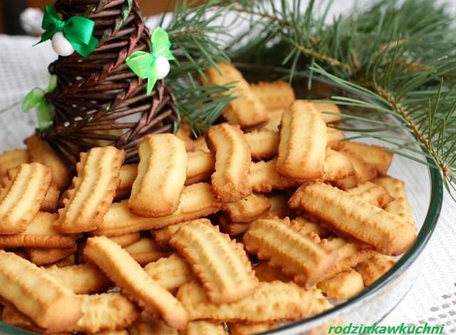 Kruche ciastka maszynkowe_ciastka kruche_drobne wypieki_Boże Narodzenie