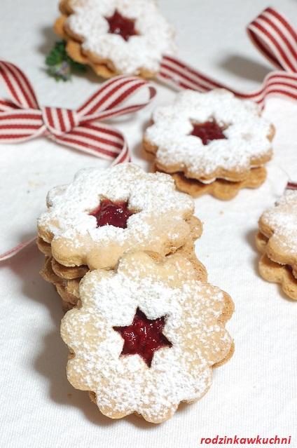 ciasteczka linckie_ciasteczka Linzer_ciasteczka na Boże Narodzenie