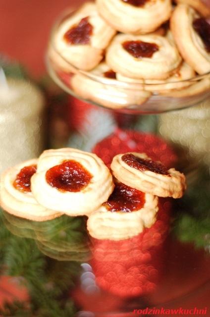 ciastka maszynkowe z marmoladą_ciastka kruche_ciastka na Boże Narodzenie