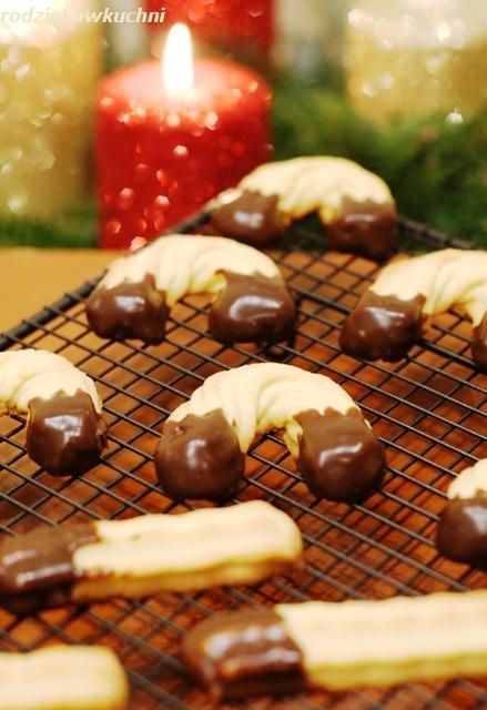 ciasteczka maszynkowe z czekoladą_ciasteczka kruche_wypieki na Boże Narodzenie