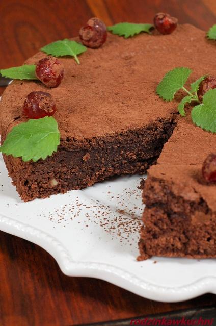 ciasto czekoladowe caprese_ciasto migdałowe_ciasto bezglutenowe_ciasto bez mąki