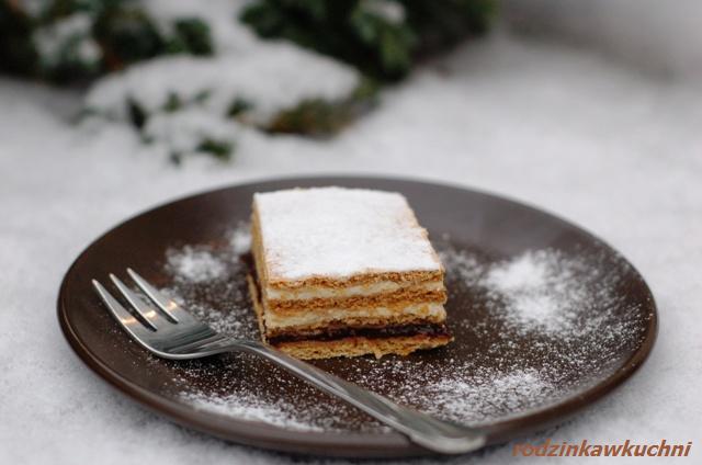 ciasto czeskie, czyli miodowa krajanka_miodownik_ciasto z kremem_Boże Narodzenie