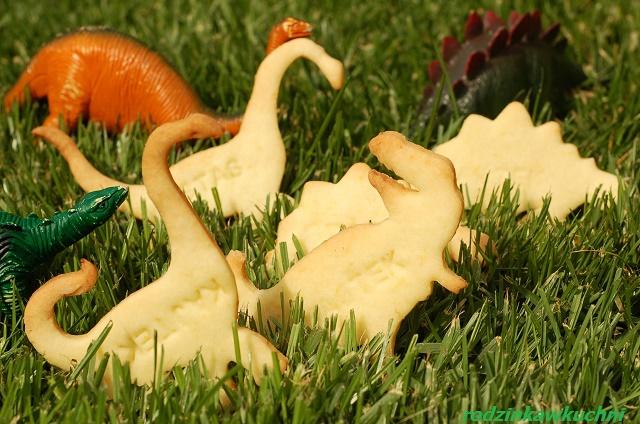 Dinozaury - ciastka cytrynowe_domowe ciasteczka_kruche ciasteczka
