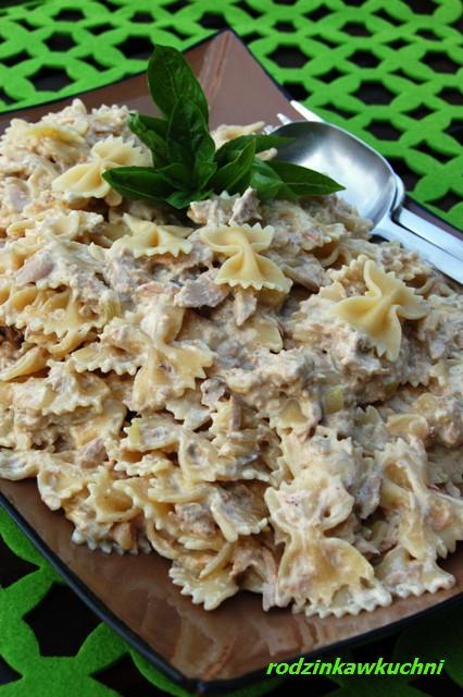 farfalle z tuńczykiem_makaron z tuńczykiem_błyskawiczne dania