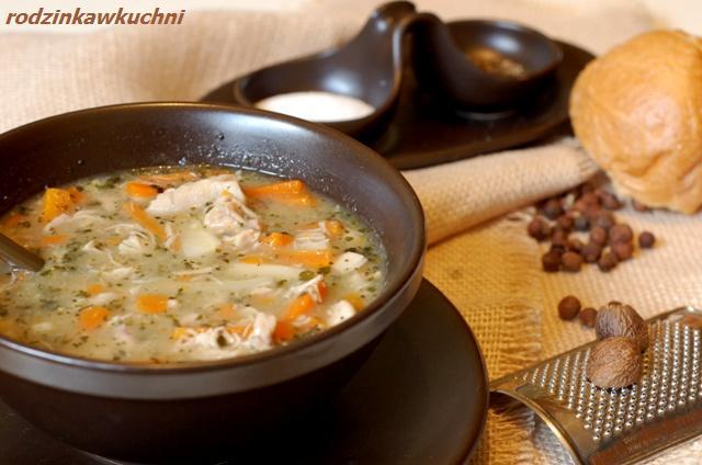 flaczki z kurczaka_zupa_danie jednogarnkowe_danie z drobiu