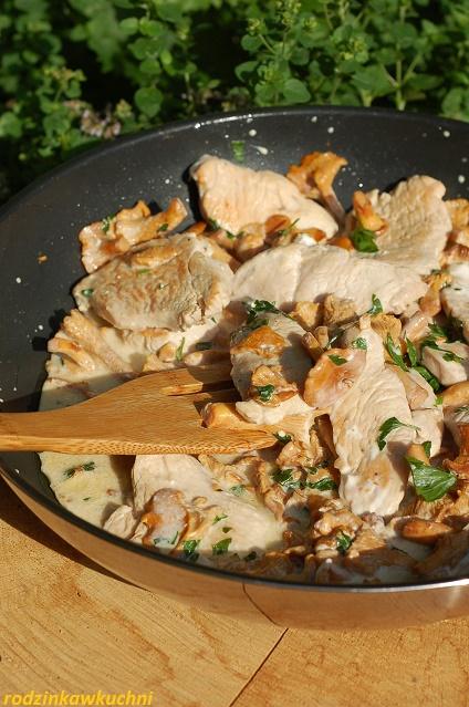 Indyk w sosie kurkowym_sznycle z indyka z grzybami_indyk z sosem_domowy obiad