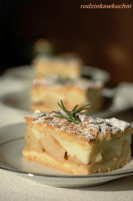 jabłecznik z budyniem_szarlotka z budyniem_kruche ciasto z owocami