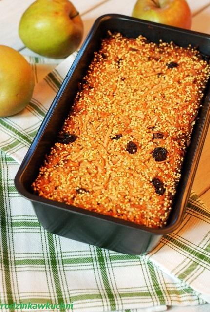 jabłecznik z kaszy jaglanej_zdrowe ciasto_ciasto bezglutenowe_zapiekanka z kaszy