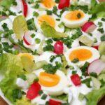 Jajka w sosie wiosennym