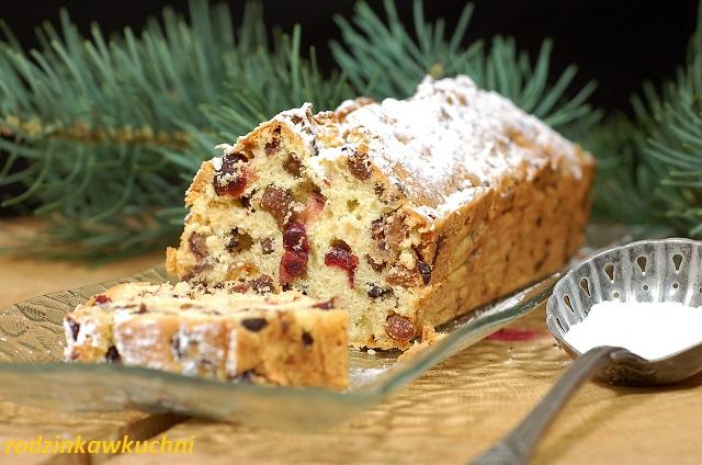 keks z czekoladą_keks ucierany_ciasto z bakaliami_ciasto na Boże Narodzenie