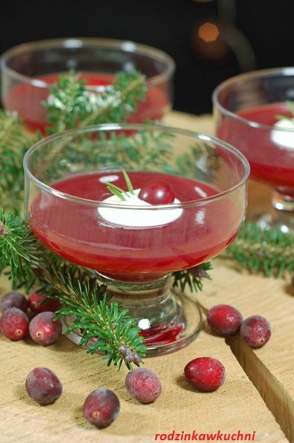 kisiel żurawinowy_domowy kisiel_deser wigilijny_przepisy na Boże Narodzenie