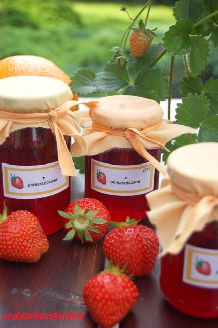 konfitura truskawkowa z pomarańczami_przetwory owocowe