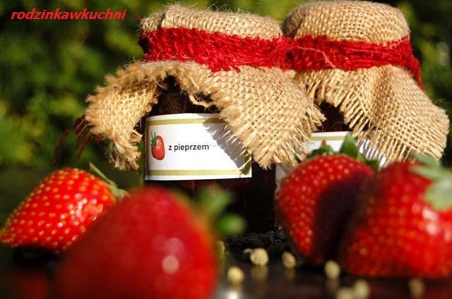 Konfitura truskawkowa z zielonym pieprzem_przetwory
