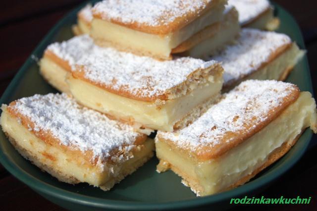 krakersowiec, czyli leniwa napoleonka_ciasto bez pieczenia_ciasto z kremem