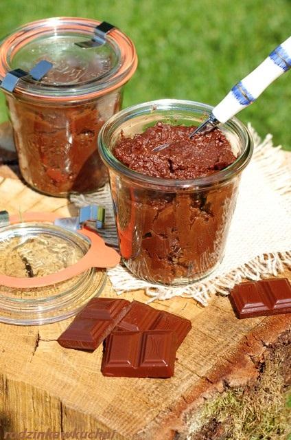 krem czekoladowy z kaszy jaglanej_domowa nutella_smarowidło do chleba_krem czekoladowo-orzechowy_danie bezglutenowe