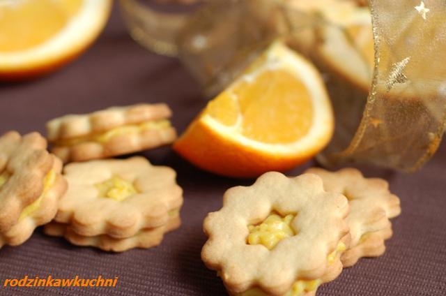 kruche ciastka z orange curd_Boże Narodzenie_krem pomarańczowy_ciasteczka