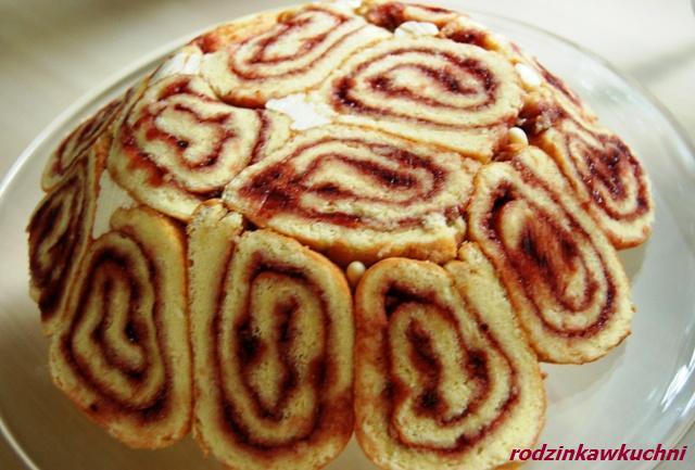 Kula_rolada biszkoptowa_ciasto z kremem_ciasto z owocami