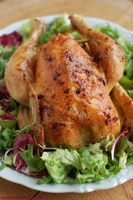 kurczak pieczony faszerowany ryżem_danie na niedzielny obiad_danie z drobiu_kurczak nadziewany