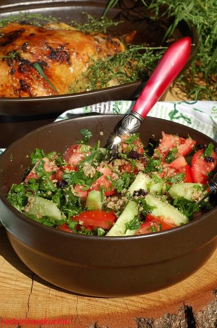 kurczak pieczony z estragonem_obiad na niedzilę_kurczak z ziołami