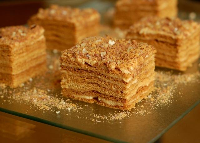 marlenka_krajanka piernikowa_ciasto z kremem_ciasto z miodem