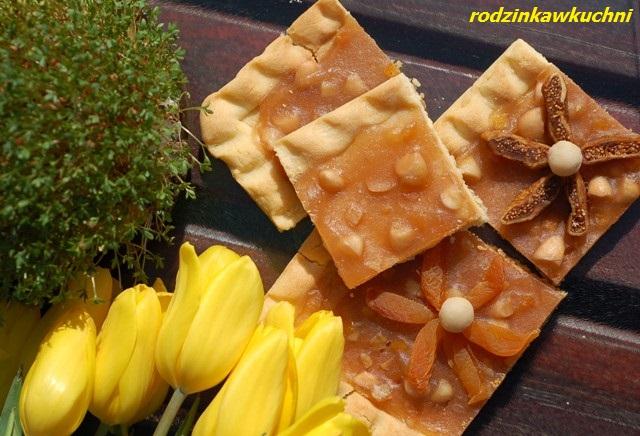 mazurek jabłkowy_mazurek na kruchym cieście_mazurek owocowy_ciasto na Wielkoanoc