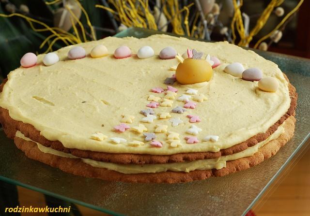 mazurek miodowy z kremem jaglanym_mazurek przekładany_mazurek warstwowy_mazurek bezglutenowy_przepisy na Wielkanoc
