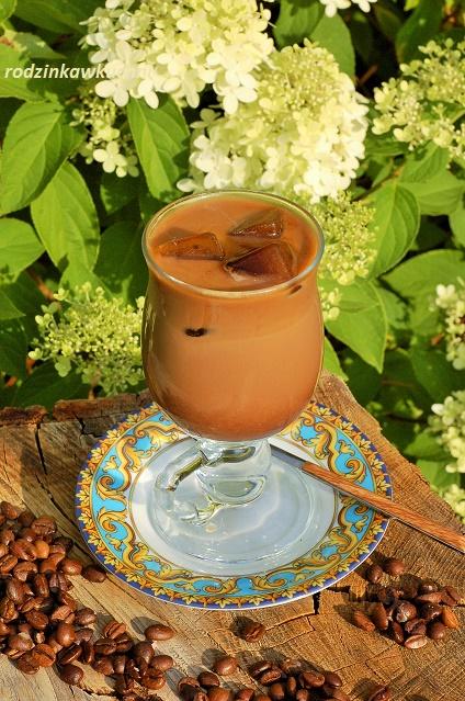 mrożona mokka z kostkami kawy_zimna kawa_kawa z mlekiem_napoje na lato