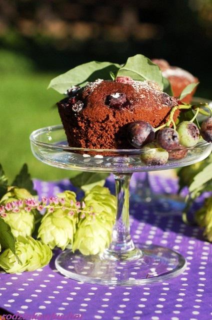 murzynki z kaszą jaglaną dla ucznia_babeczki kakaowe_babeczki z owocami_zdrowe słodycze
