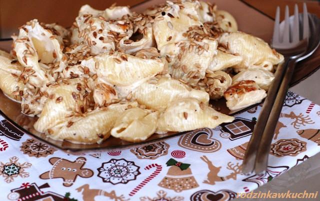 muszle z kurczakiem i mascarpone_dania błyskawiczne_makarony_kuchnia włoska_danie z kurczakiem