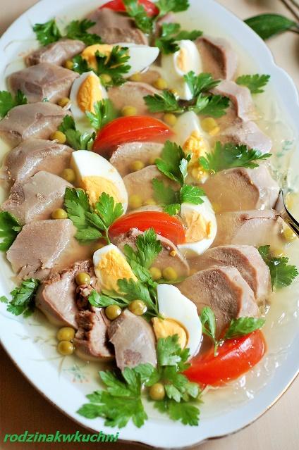 ozorki w galarecie_mięso w galarecie_podroby_przystawki_dania na przyjęcia_dania na Wielkanoc