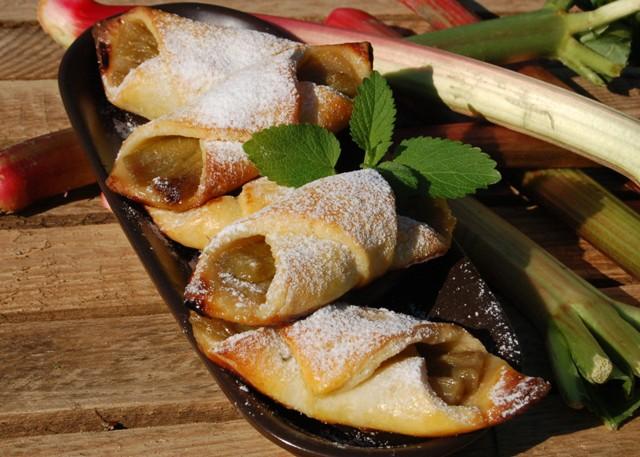 pakieciki rabarbarowe_ciasteczka z rabarbarem_dania na piknik