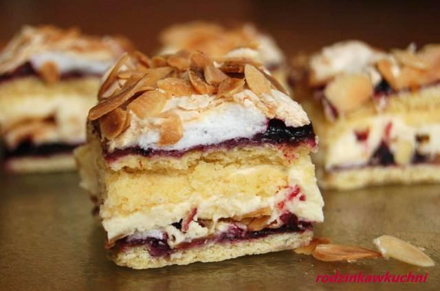 pani Walewska_pyszotka_ciasto kruche_ciasto z kremem_ciasto z bezą
