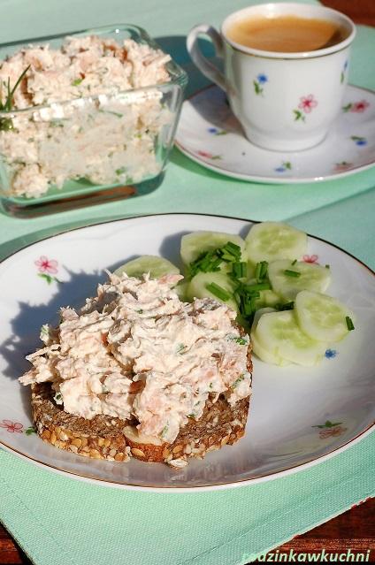 pasta z wędzonego łososia_pasta na śniadanie_pasta rybna_smarowidło do chleba