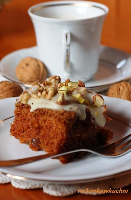 piernik marchewkowy z polewą serową_piernik_ciasto marchewkowe_Boże Narodzenie