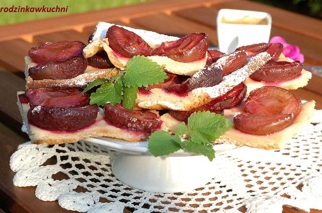 placek krucho-drożdżowy ze śliwkami_ciasto ze śliwkami_ciasto kruche_ciasto drożdżowe_ciasto z owocami