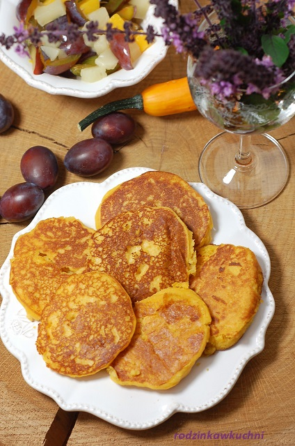 placki ryżowe z dynią_placki dyniowe_dla dzieci_placki bezglutwnowe_placki na śniadanie