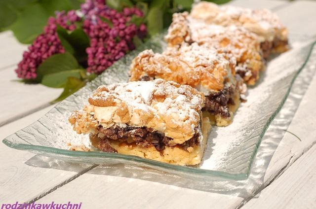 pleśniak z rabarbarem_pleśniak z warstwą czekoladową_skubaniec_ciasto kruche z owocami