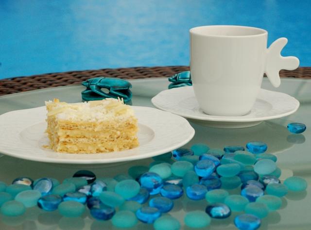 Raffaello na krakersach_ciasto bez pieczenia_ciasto kremowe_ciasto błyskawiczne