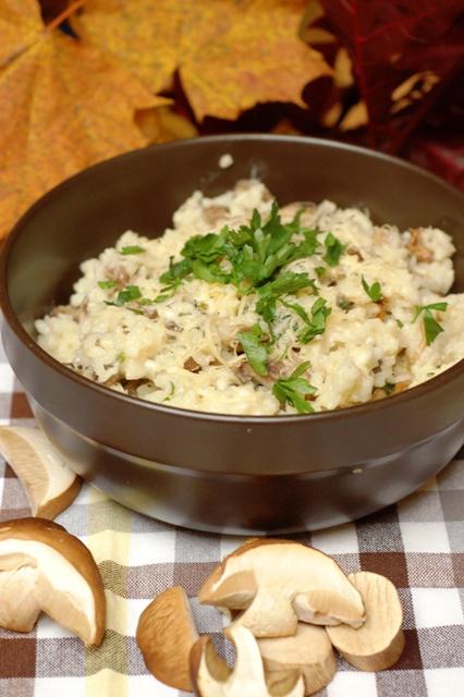 risotto z grzybami_danie wegetariańskie_danie na jesień_danie bezmięsne
