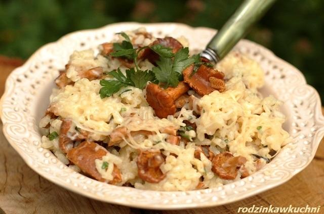 risotto z kurkami_kuchnia włoska_danie wegetariańskie_ryż z grzybami